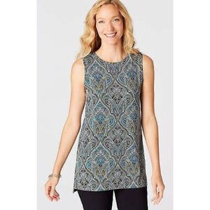 J.Jill Wearever Collection Medium Sleeveless Tunic